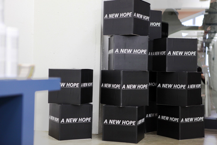 a new hope boxes at the mintdesigns 2011 fw show