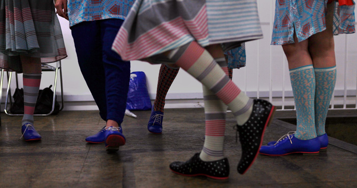socks and shoes at mintdesigns aw 2011 tokyo