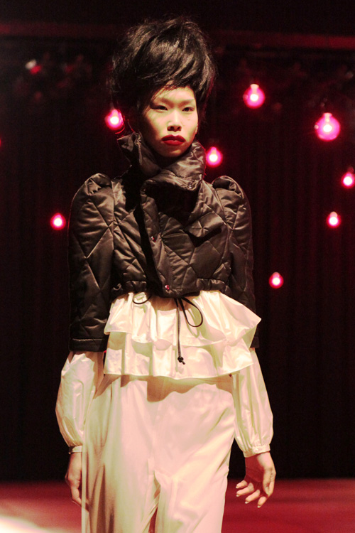 magical quilted jacket at nozomi ishiguro fw 2011