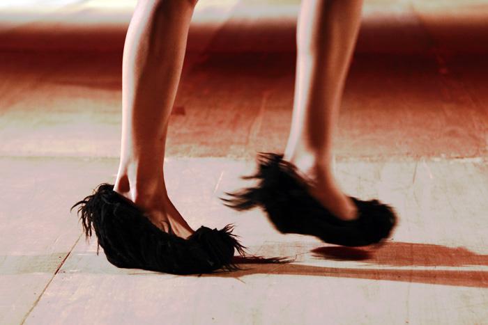 hairy shoes at nozomi ishiguro fw 2011