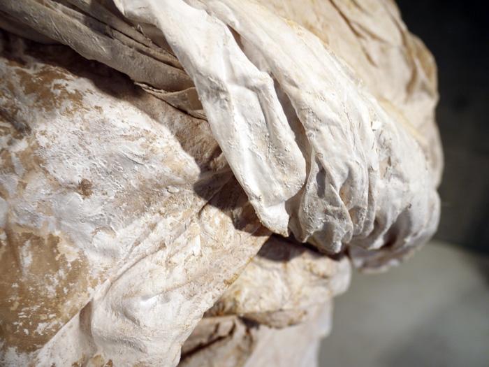 plaster details on this bustle skirt