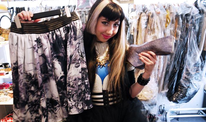 somarta shoes and skirt for vogue japan meets isetan