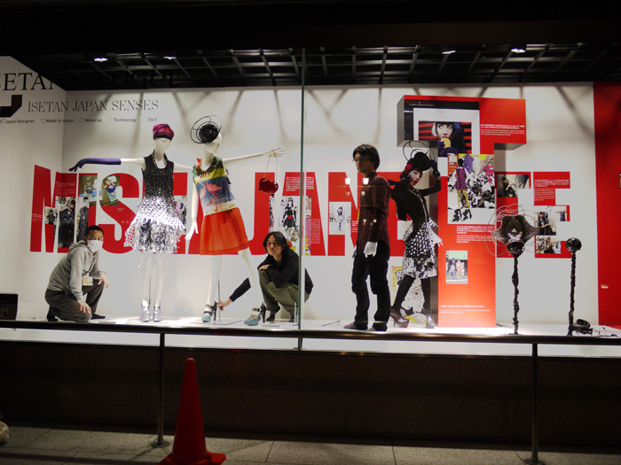 working on my isetan vogue japan window