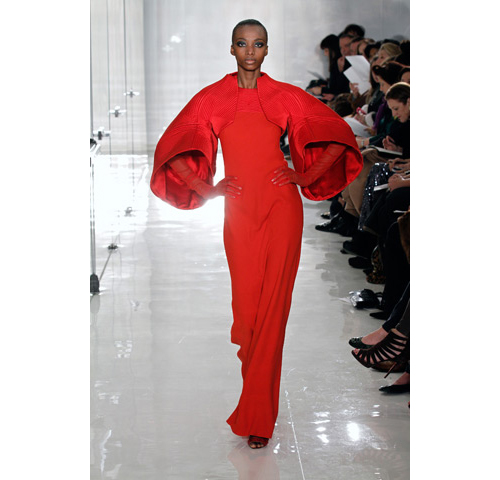 solid red at chado ralph rucci