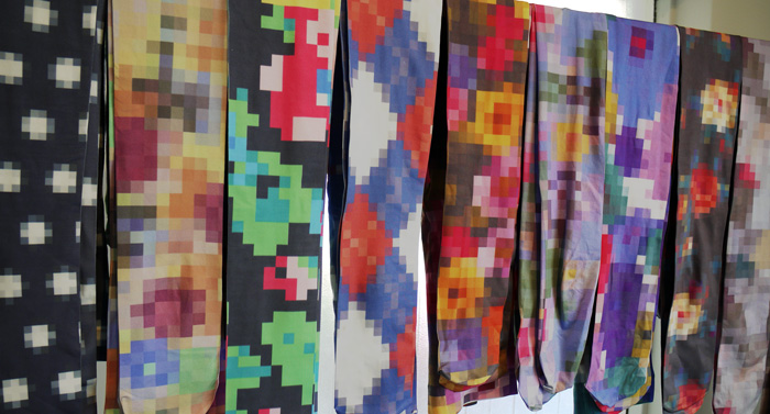 8-bit tights by anrealage