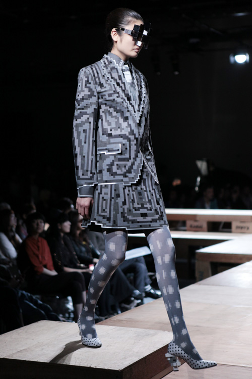 patch jacket runway