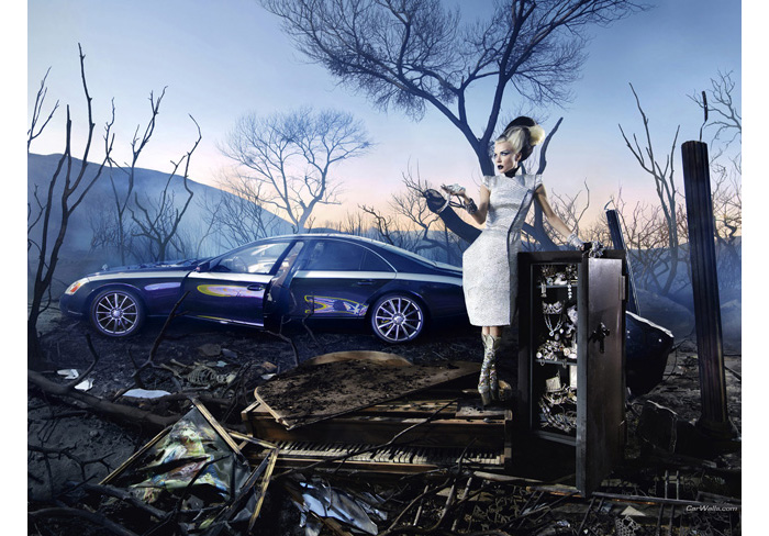 daphne guinness in maybach car ad