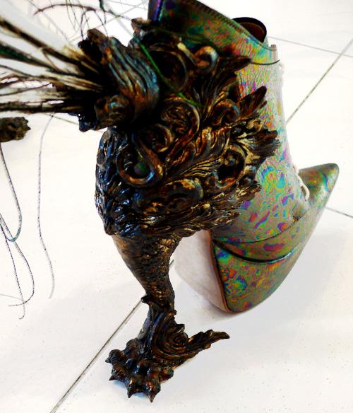 masaya kushino peacock feather shoes