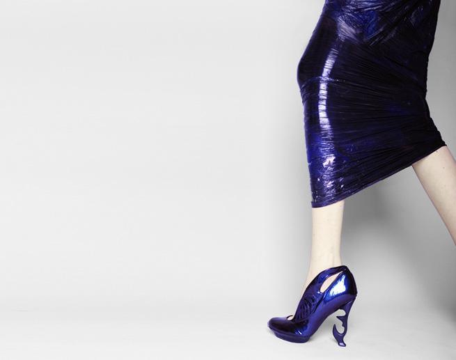 anastacia radevich saran wrap shoes