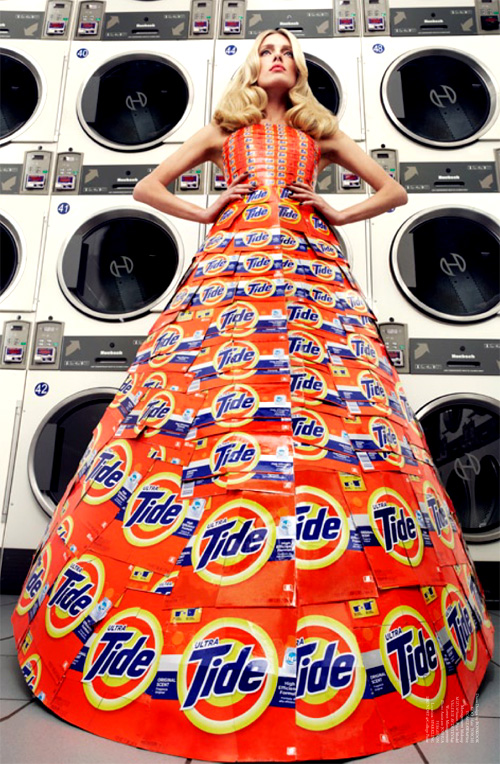 tide detergent dress in Virgine magazine