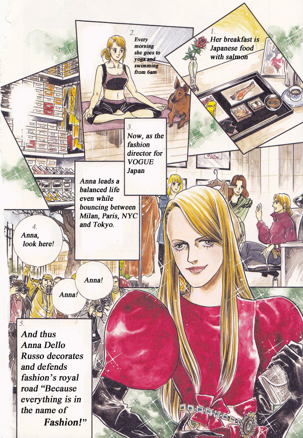 anna dello russo fashion flower comic manga