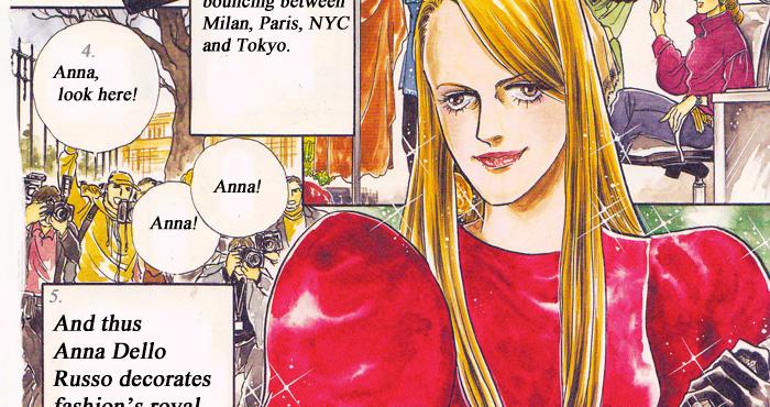 anna dello russo in manga
