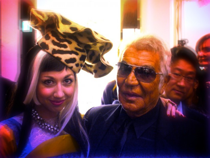 misha janette with roberto cavalli in Tokyo
