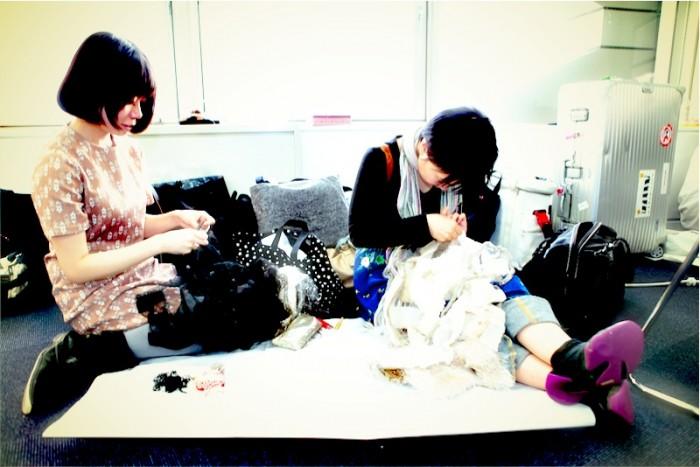 knitting backstage