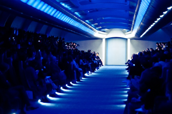 chanel couture in tokyo runway set