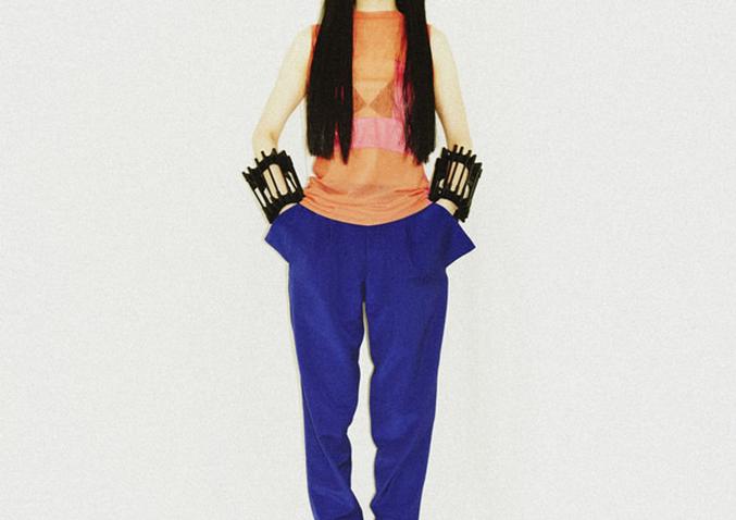 pants orange shirt