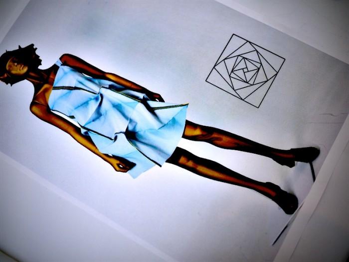 model blue