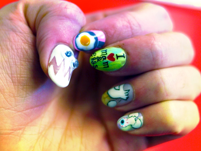 misha nails eggs