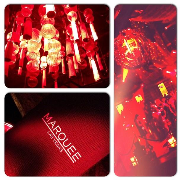 Club Marquee @ COSMOPOLITAN hotel. Red. #vegas ?????????????marquee??????????