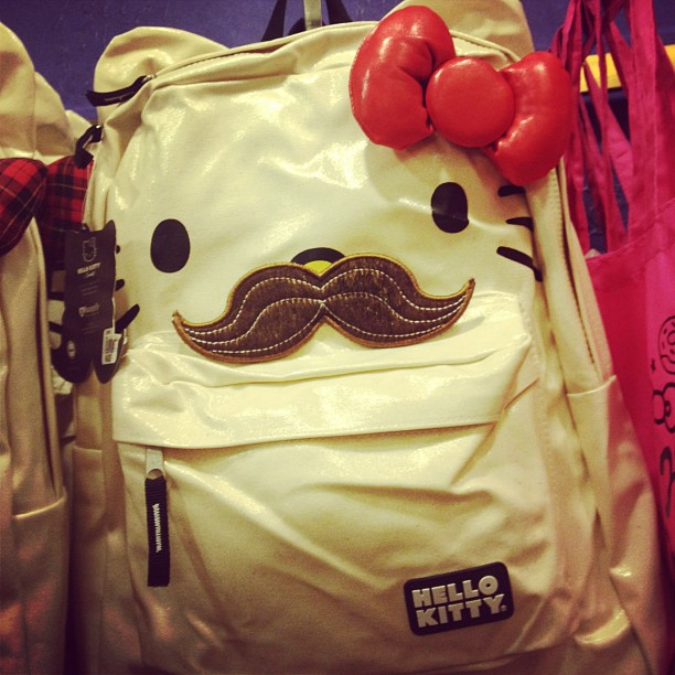 Holy schmoly. Hipster hello kitty! Mustache ack! ??????????????????????????