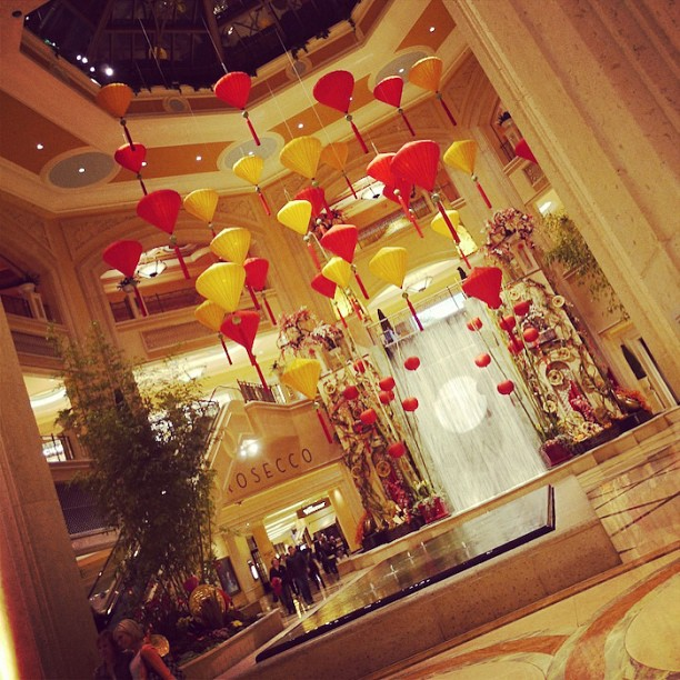 Lunar new year at the palazzo/Venetian hotel. Gorgeous! ????????????????????????