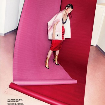 "FEBRUARY FASHION EDITORIAL ""RED ILLUSION NEW DIMENSION"". WELCOME TO THE YEAR OF THE SNAKE."
