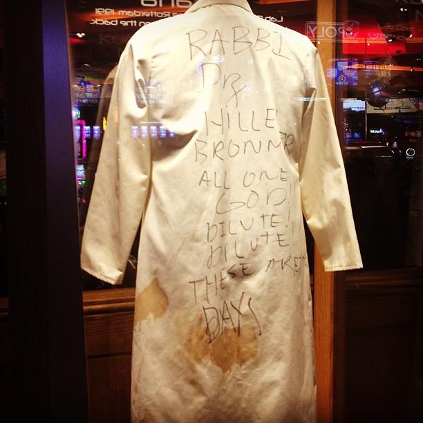 Nirvana????????????????Kurt cobain's stage labcoat on display at #hrh #lasvegas