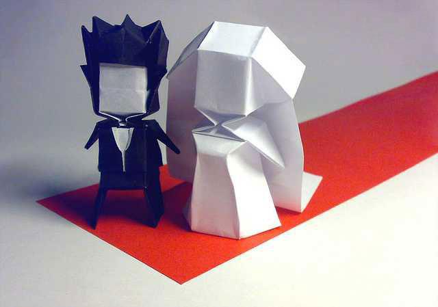 origami-bride-groom