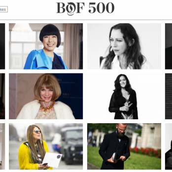 Business Of Fashion's 500 People Who Are Shaping the Global Fashion Industry. 10 From Japan Make the Cut…And Surprise!