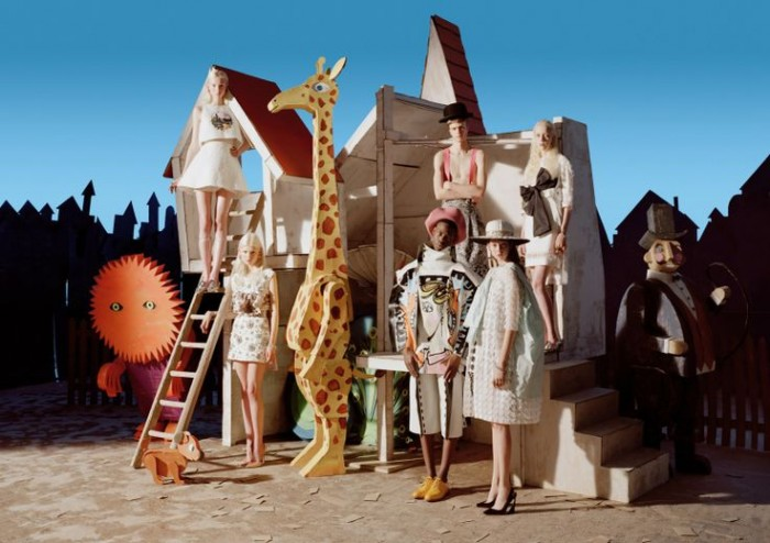 Babes in Toyland - Dior Haute Couture dress and pumps tim walker mar 2014 Babes in Toyland tim walker mar 2014