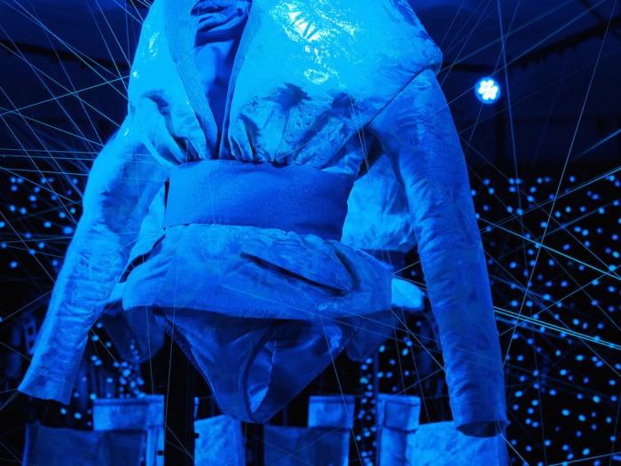Jellyfish DNA silk by Gucci and Sputniko kimono exhibit
