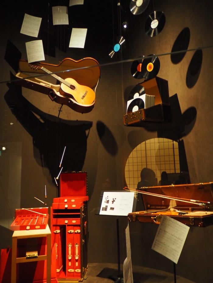 custom musical trunks at the louis vuitton volez voguez voyagez Tokyo exhibit
