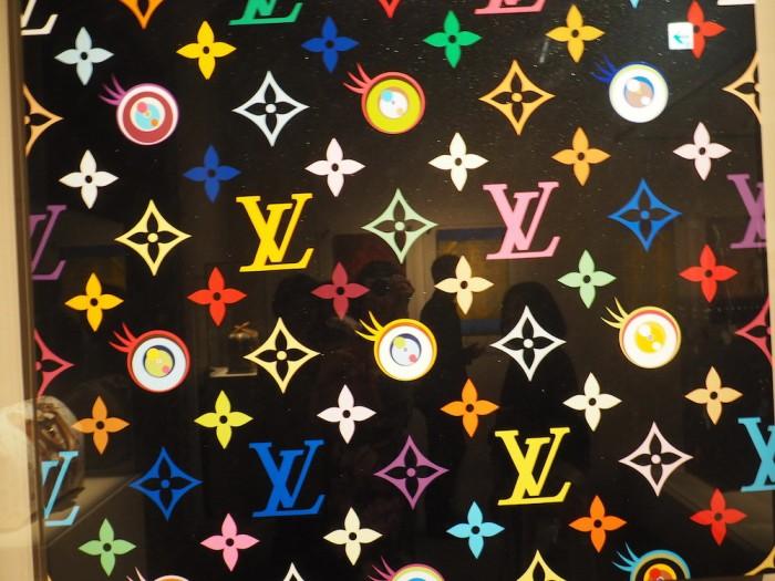 Murakami art at the louis vuitton volez voguez voyagez Tokyo exhibit