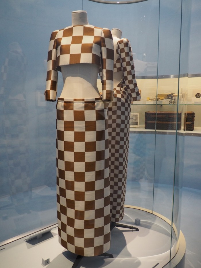 dresses by marc jacobs at the louis vuitton volez voguez voyagez Tokyo exhibit