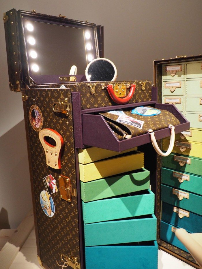cindy sherman trunk at the louis vuitton volez voguez voyagez Tokyo exhibit