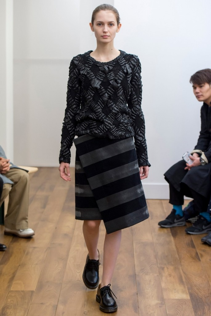 glass beaded skirt at Noir Kei Ninomiya
