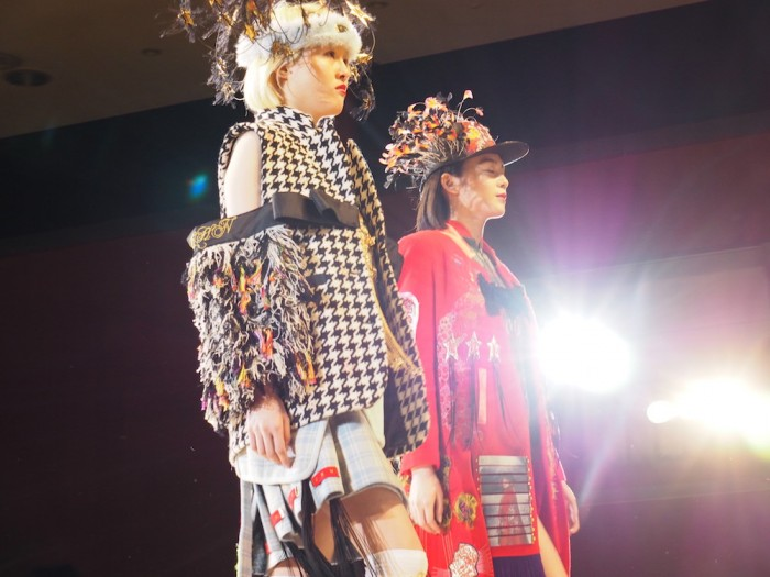 Models wear Daisuke Tanaka at the 2015 Soen awards 田中大資 装苑賞2015年