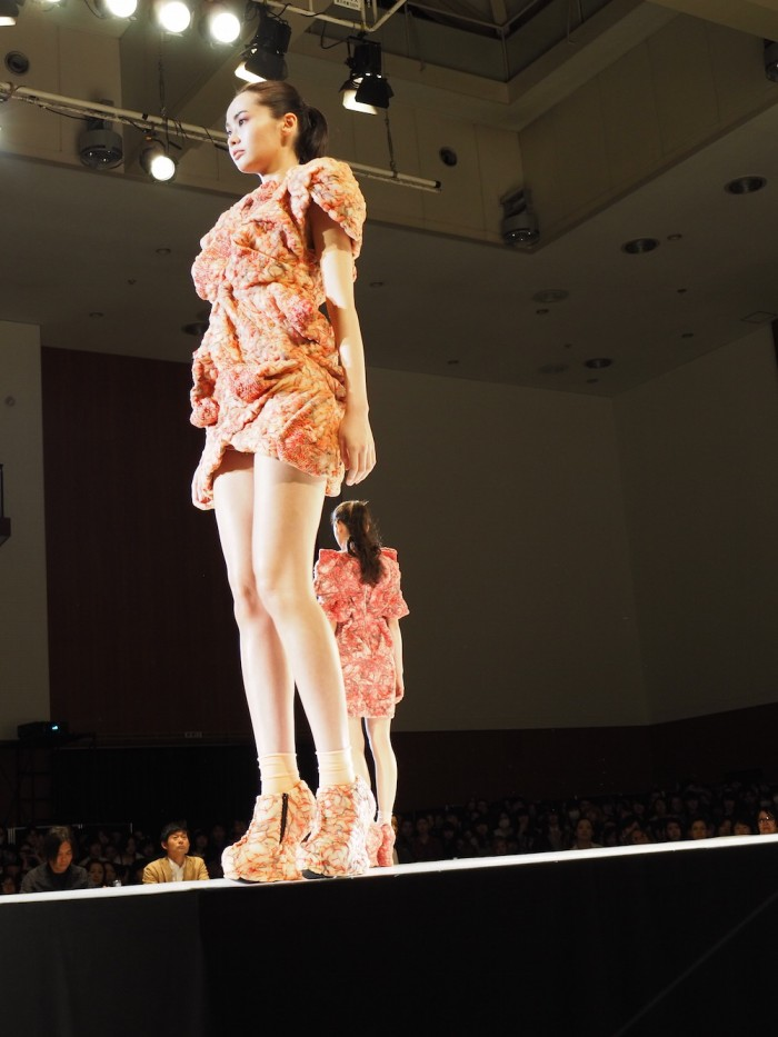 models wear Akane Hoshino in the Soen Awards 2015 星野明音の作品、装苑賞2015
