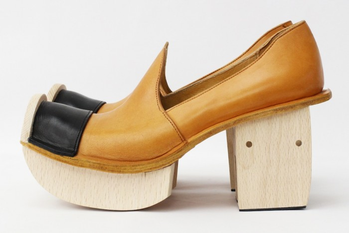 wooden wataru sato shoes from the ethnic collection