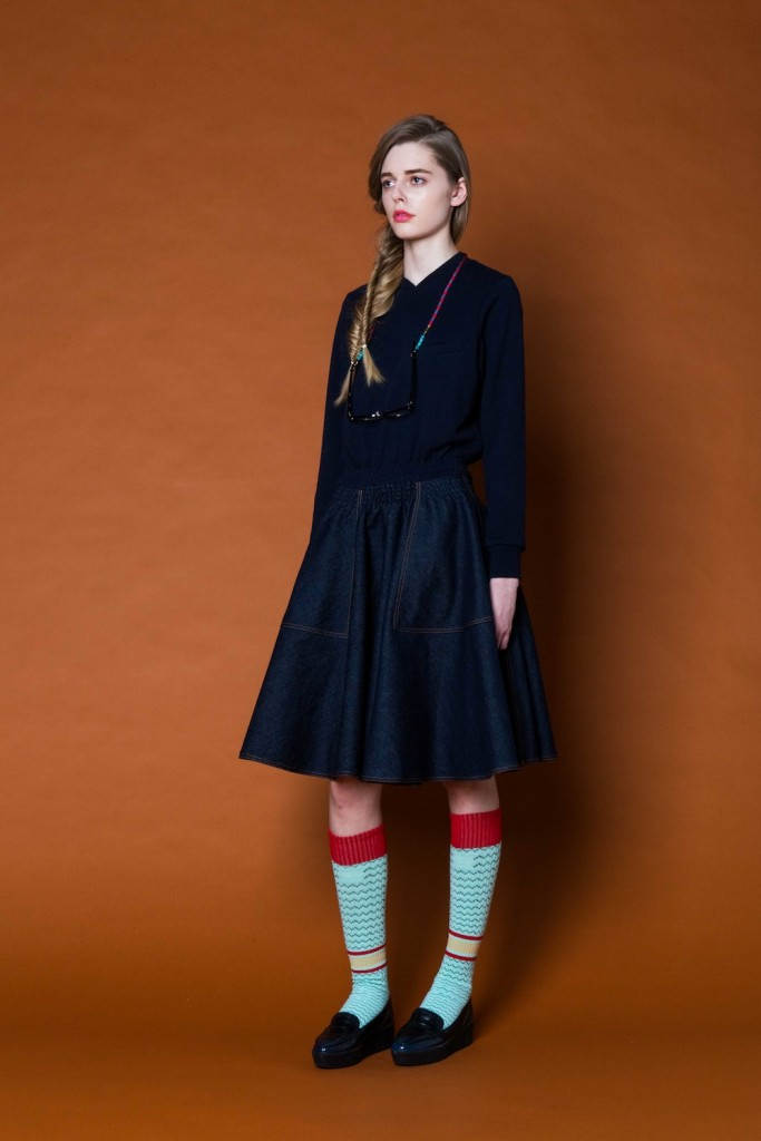 model wears NON tokyo 2015 AW Tokyo collection