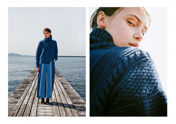 model wears sweater mame 2015 aw winter tokyo in lookbook