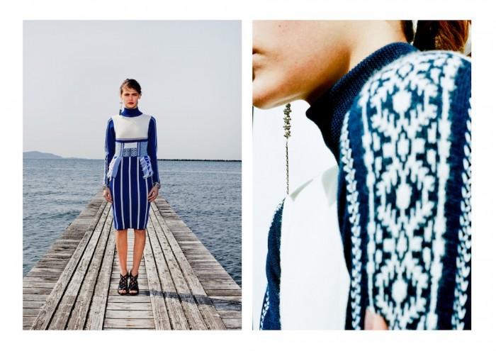 model wears ethnic mame 2015 aw winter tokyo in lookbook