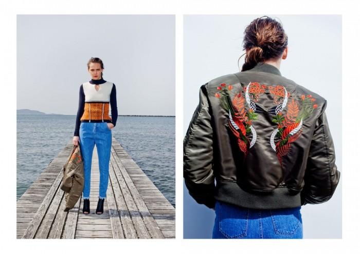 model wears jacket mame 2015 aw winter tokyo in lookbook