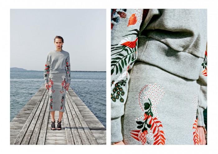 model wears embroidery mame 2015 aw winter tokyo in lookbook
