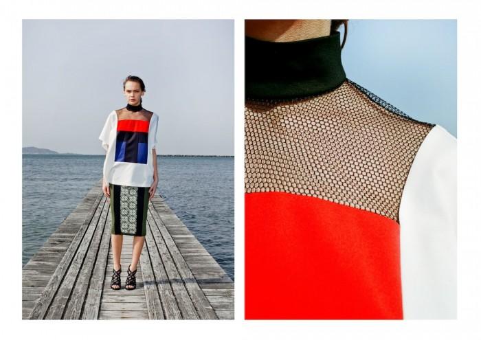 model wears mesh mame 2015 aw winter tokyo in lookbook