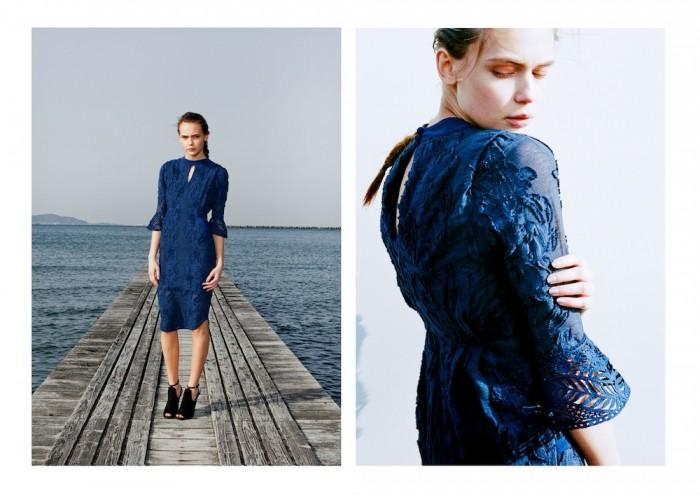 model wears mame 2015 aw winter tokyo in lookbook