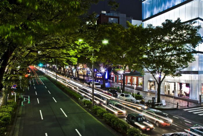 for luxury shopping in japan, the omotesando street is the best
