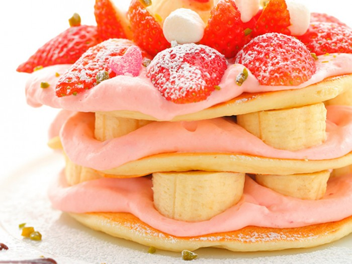 Harajuku dessert at Sweets-sando Moena pancakes