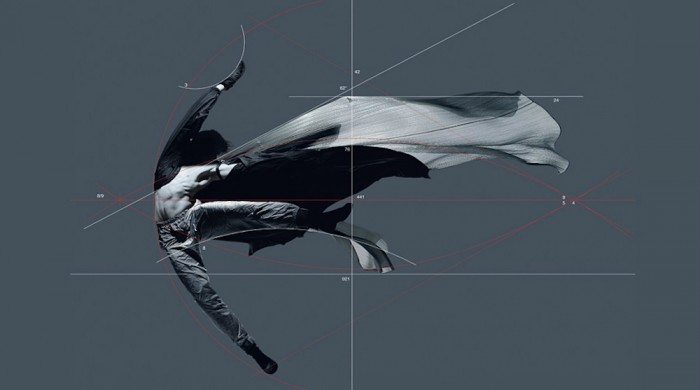 issey miyake and Francis Giacobetti prism installation in Tokyo Nicolas Le Riche −Study of a dancer