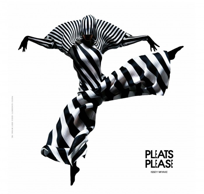 Pleats Please issey miyake and Francis Giacobetti prism installation in Tokyo